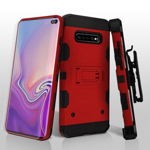 Storm Tank Galaxy S10+ Plus Case Holster - Red/Black - MyPhoneCase.com