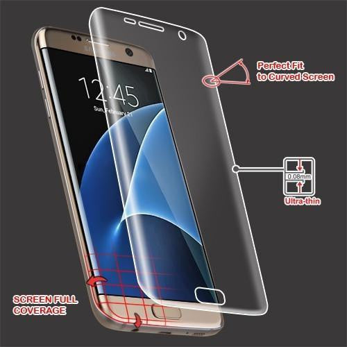 MYBAT Screen Protector for Samsung Galaxy S7 Edge - Curved Coverage - MyPhoneCase.com