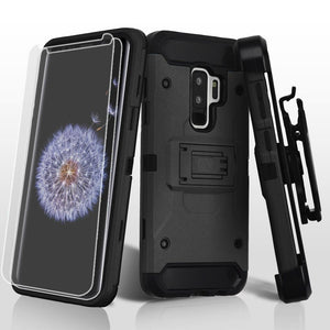 Kinetic Hybrid Galaxy S9+ Plus Case Holster Combo - Black/Black - MyPhoneCase.com