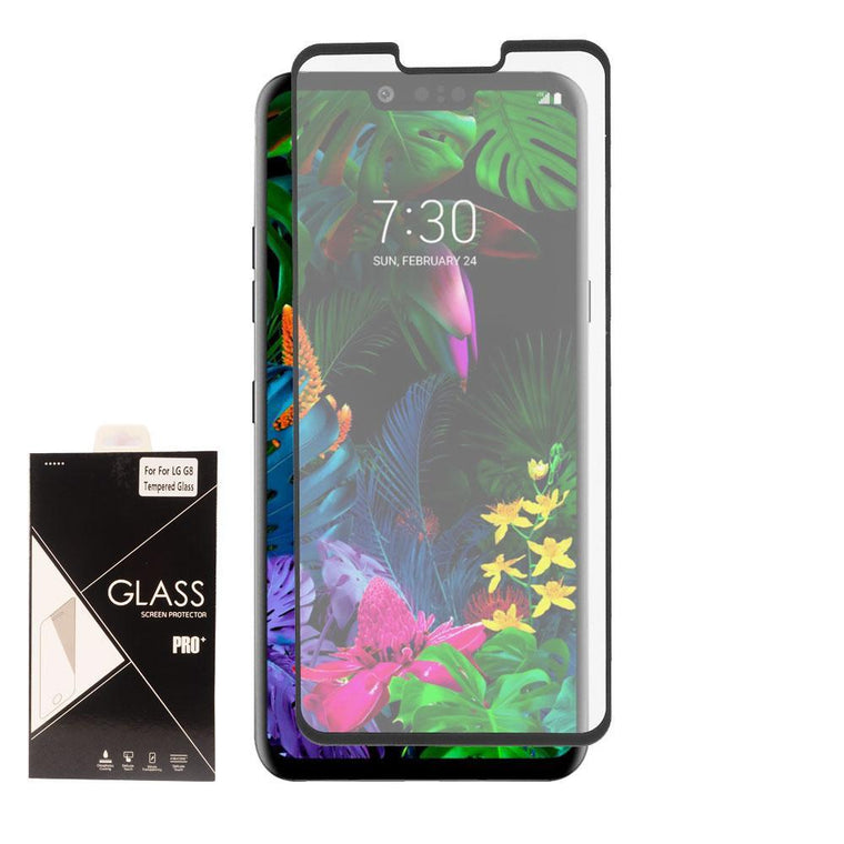 Screen Protector for LG G8 ThinQ - Tempered Glass (Black) - MPC - MyPhoneCase.com