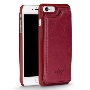 ZV Leather Back Cover Wallet iPhone 7 / iPhone 8 Case - Rose Pink - MyPhoneCase.com