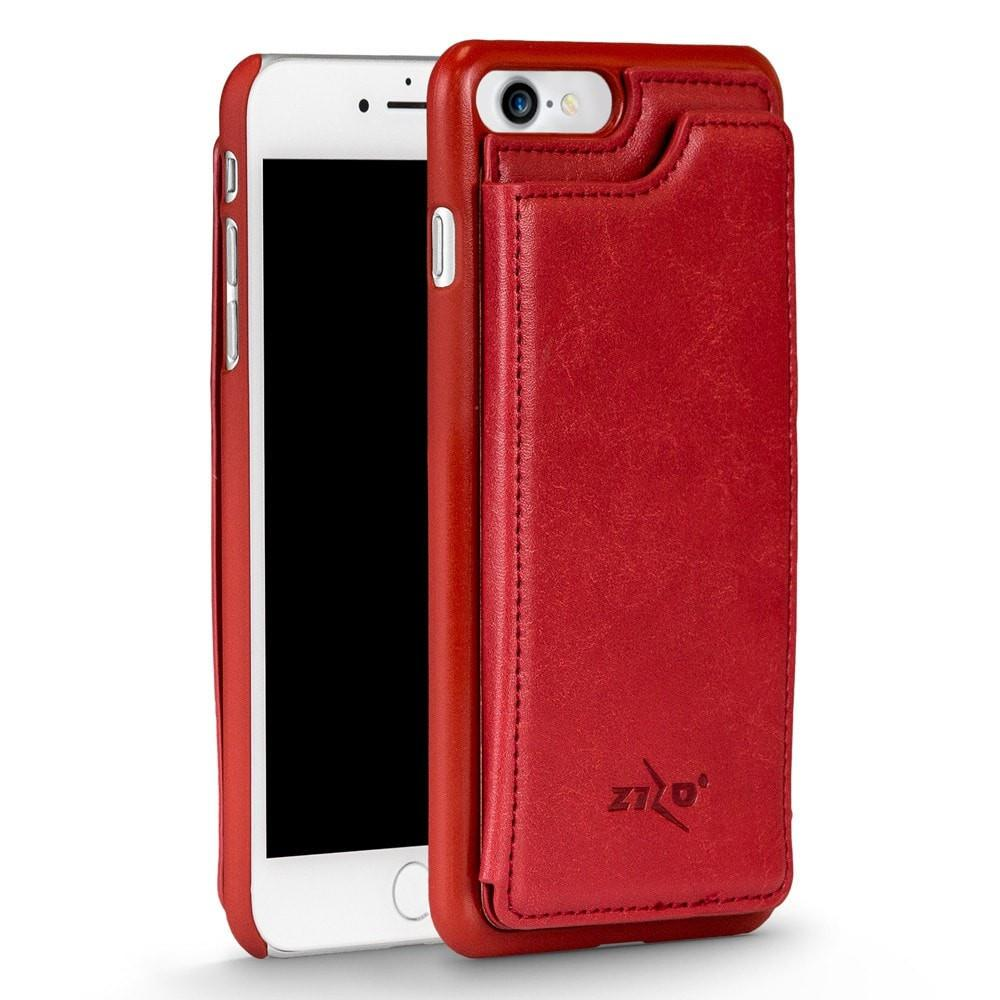 Zizo Premium Leather Back Cover Wallet Apple iPhone 7 Case - Red - MyPhoneCase.com - 1