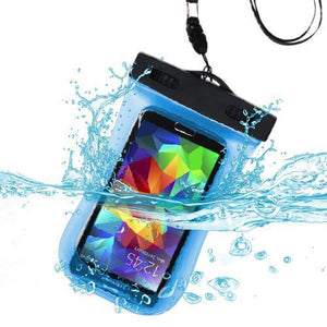 MYBAT Universal Waterproof Bag with Lanyard and Armband - Blue - MyPhoneCase.com