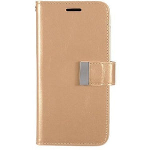 EGC Premium Leather Wallet Samsung Galaxy S7 Edge Case - Gold - MyPhoneCase.com