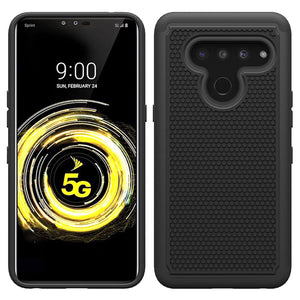MPC Grippy Hybird LG V50 ThinQ Rugged Armor Case - Black - MyPhoneCase.com