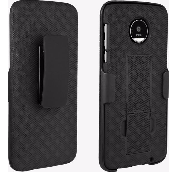 Verizon OEM Shell Holster Combo Case for Moto Z Droid - Black - MyPhoneCase.com - 1