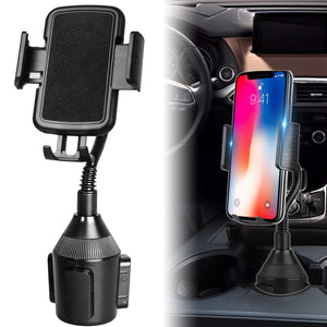Adjustable Automobile Car Cup Holder Phone Mount 360° Rotatable Cradle