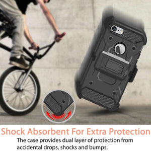 Kinetic Hybrid 3-in-1 iPhone 6/6S Case Holster - Black
