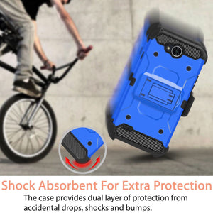 Rugged Armor Holster LG X Power 2 / Fiesta / X charge Case - Blue - MyPhoneCase.com