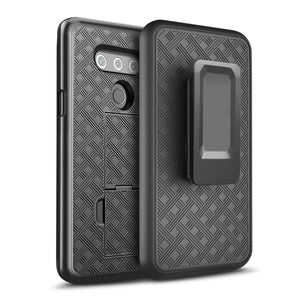 OEM Fitted Shell w/ Rugged Holster LG V40 ThinQ Case - MyPhoneCase.com