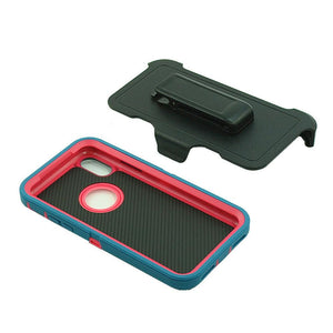 MPC Rugged Shockproof Shell iPhone X / Xs Case - Teal/Hot Pink