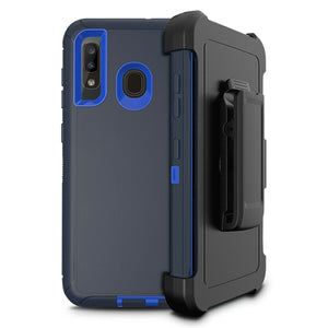 Rugged Defender Galaxy A10e (2019) Case Holster - Navy/Blue - MyPhoneCase.com