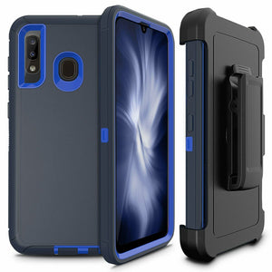 Rugged Defender Galaxy A20 (2019) Case Holster - Navy/Blue - MyPhoneCase.com