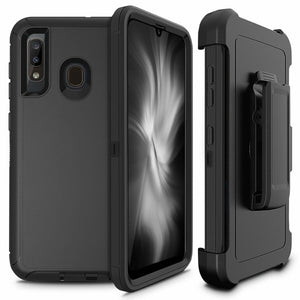 Rugged Defender Galaxy A20 (2019) Case Holster - Black - MyPhoneCase.com