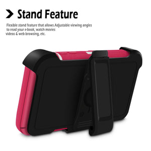 Rugged Defender Galaxy A10e (2019) Case Holster - Pink/White - MyPhoneCase.com