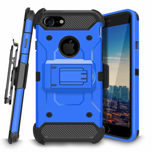 "Storm Tank 3-in-1 iPhone 7 / iPhone 8 (4.7"") Case Combo - Blue/Black - MyPhoneCase.com"
