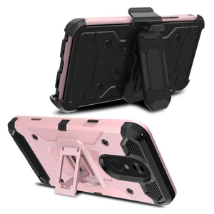 Storm Tank LG Stylo 4 / Stylo 4+ Plus Case Holster Combo - Rose Gold/Black