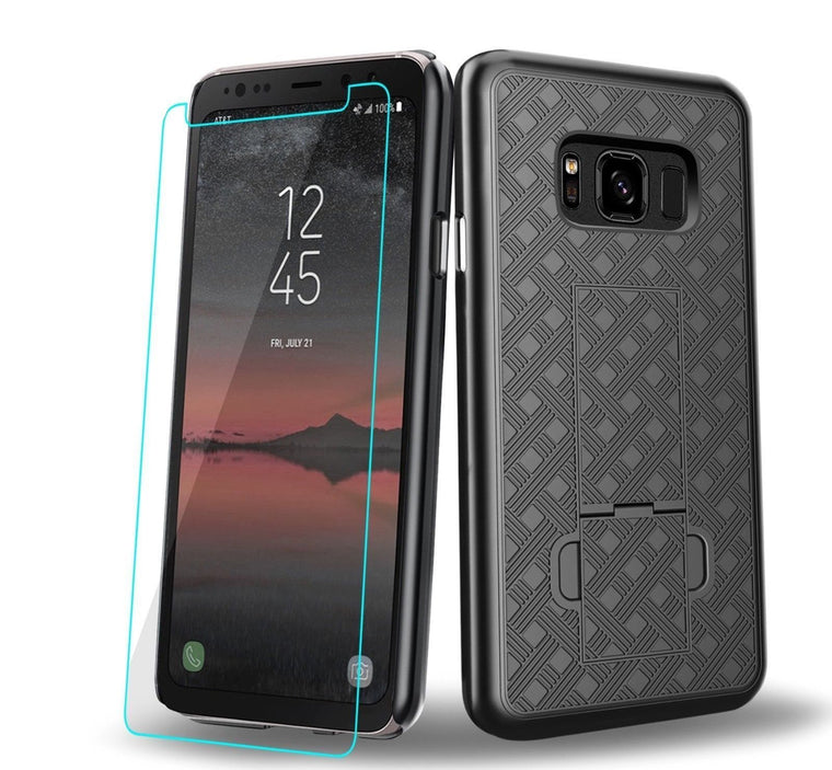 Oem Rugged Slim Shell Holster Galaxy S8 Active Case - Myphonecase.com