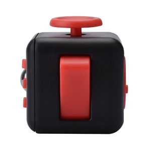 Fidget Cube Anxiety Stress Relief Focus Toy - Black/Red - MyPhoneCase.com