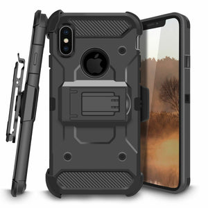 3-in-1 Kinetic Holster iPhone X / Xs Case Combo - Black - MyPhoneCase.com