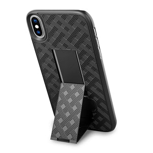 Verizon iPhone X / Xs Fitted Shell Case Rugged Holster Belt Clip - MyPhoneCase.com