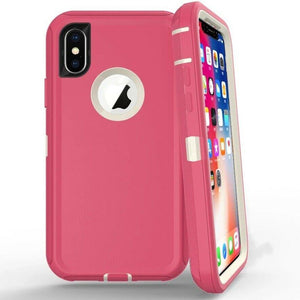 Heavy Duty Shockproof iPhone XR Defender Case - Pink - MyPhoneCase.com
