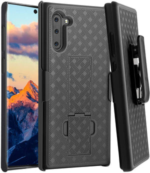 OEM Fitted Shell Holster Galaxy Note 10 Kickstand Case Combo