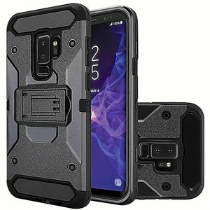 Storm Tank Galaxy S9+ Plus Case Holster Combo - Metallic Dark Grey - MyPhoneCase.com