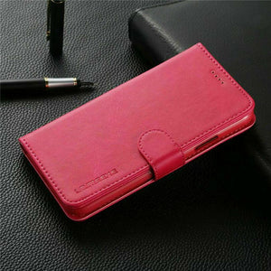 "Flip Stand Leather Wallet iPhone 7 / iPhone 8 (4.7"") Case - Hot Pink - MyPhoneCase.com"
