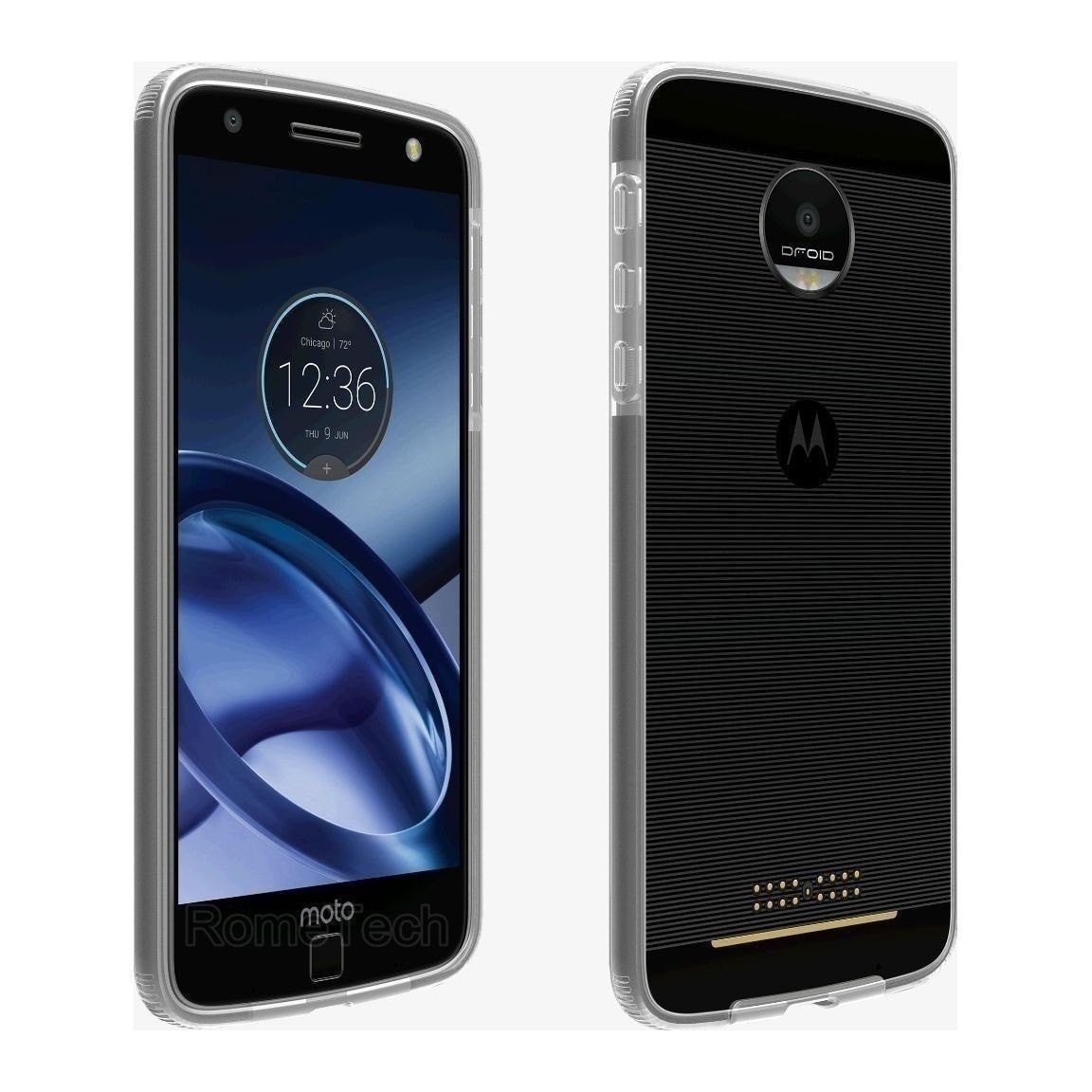 Verizon OEM Two-Tone Bumper Case for Moto Z Droid - Clear - MyPhoneCase.com