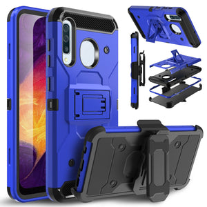 Storm Tank Galaxy A20 (2019) Case Holster - Blue/Black