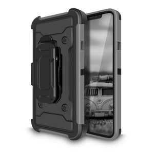 Storm Tank Rugged Armor iPhone 11 Pro Max Case Holster - Gray