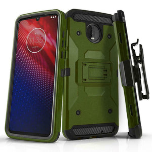 Storm Tank Motorola moto z4 Case Holster Combo - Army Green - MyPhoneCase.com