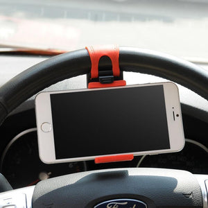 DW Universal Car Mount Holster on Steering Wheel - Red - MyPhoneCase.com