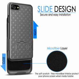 "Slim Fitted Kickstand Holster Clip iPhone SE 2nd(2020) iPhone 8 / 7 (4.7"") - MyPhoneCase.com"