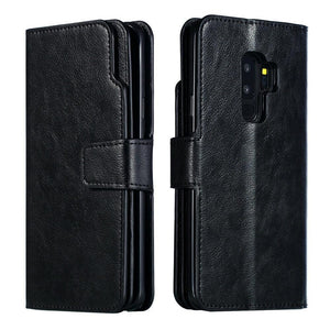Premium Leather Extra Wallet Galaxy A50 (2019) Case - Black - MyPhoneCase.com