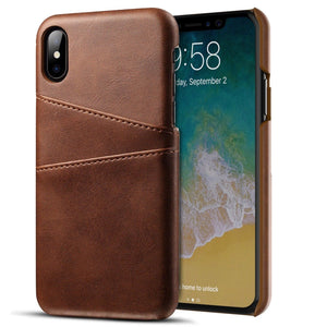 MPC Slim Leather Back Cover Wallet iPhone X / Xs Case - MyPhoneCase.com