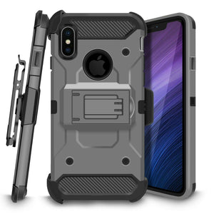 3-in-1 Kinetic Holster iPhone X / Xs Case Combo - Dark Grey