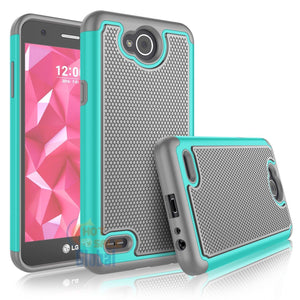 Grippy Hybrid LG X Power 2 / Fiesta LTE Case - Teal/Grey - MyPhoneCase.com
