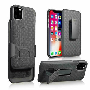 OEM Fitted Shell Kickstand Apple iPhone 11 Case Holster - MyPhoneCase.com