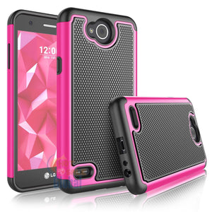 Grippy Hybrid LG X Power 2 / Fiesta LTE Case - Hot Pink/Black - MyPhoneCase.com