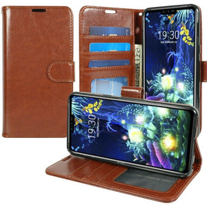 MyJacket Element Series LG G8 ThinQ Wallet Case - Brown - MyPhoneCase.com