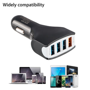4 Port USB Car Charger Quick Charge 3.0 36W Power Portable - MyPhoneCase.com