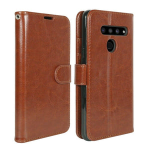 MyJacket Element Series LG G8 ThinQ Wallet Case - Brown