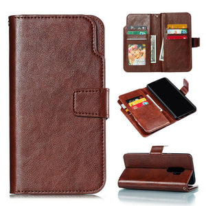 Premium Leather Extra Wallet Galaxy A50 (2019) Case - Brown - MyPhoneCase.com