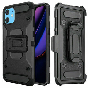 Kinetic Rugged Kickstand iPhone 11 Case Holster - Black