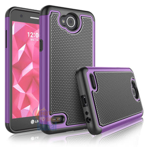 Grippy Hybrid LG X Power 2 / Fiesta LTE Case - Purple/Black - MyPhoneCase.com