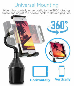 Universal Heavy Duty Car Cup Holder Phone Mount
