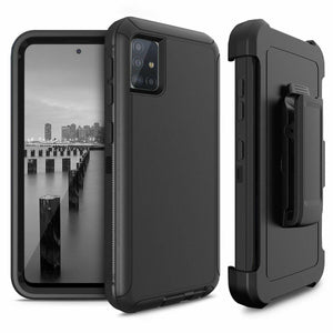 Heavy Duty Shockproof Galaxy A51 (Not 5G) Defender Case Holster