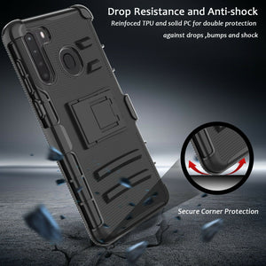 Rugged Advanced Armor Kickstand Galaxy A21 (2020) Case Holster - MyPhoneCase.com